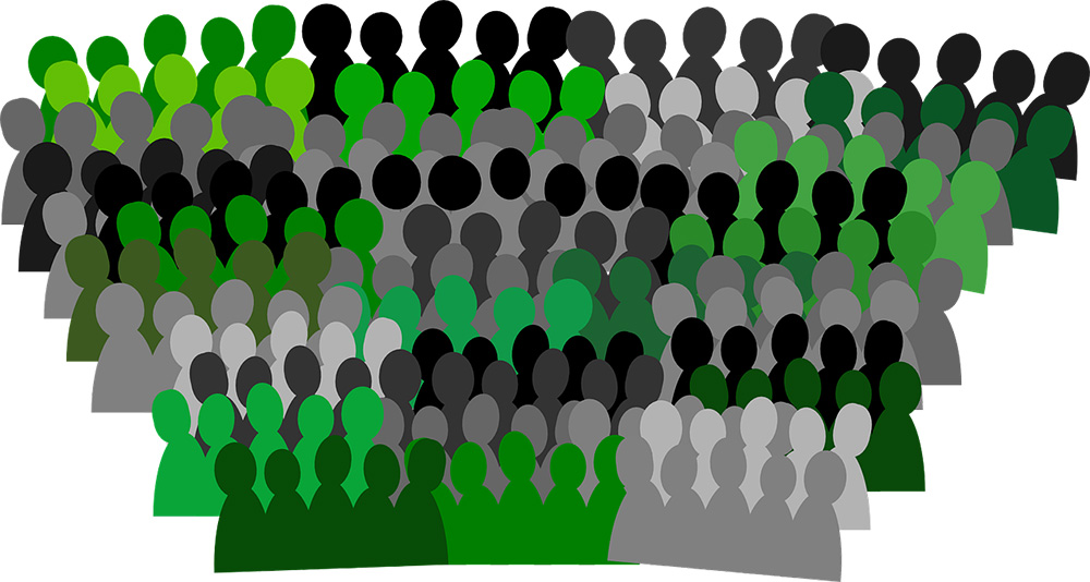 green crowds